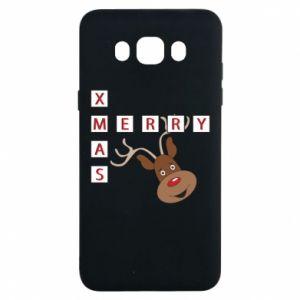 Etui na Samsung J7 2016 Merry Xmas Moose