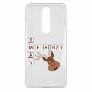 Etui na Nokia 5.1 Plus Merry Xmas Moose