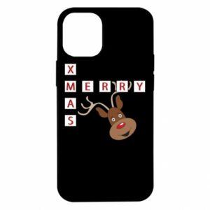 Etui na iPhone 12 Mini Merry Xmas Moose