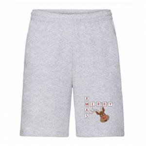 Men's shorts Merry Xmas Moose
