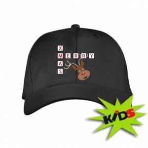 Dziecięca czapeczka z daszkiem Merry Xmas Moose