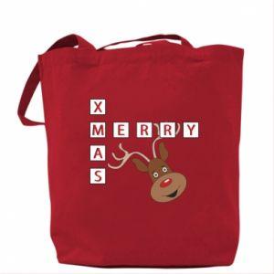 Bag Merry Xmas Moose