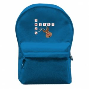Backpack with front pocket Merry Xmas Moose