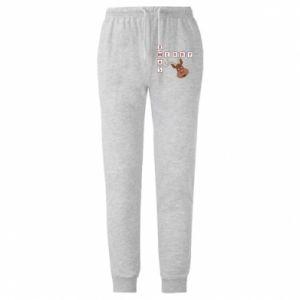 Męskie spodnie lekkie Merry Xmas Moose