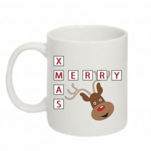 Mug 330ml Merry Xmas Moose