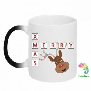 Kubek-kameleon Merry Xmas Moose