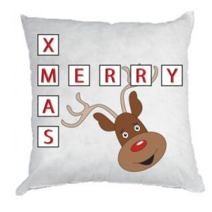 Pillow Merry Xmas Moose