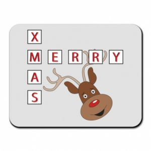 Mouse pad Merry Xmas Moose