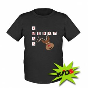 Kids T-shirt Merry Xmas Moose