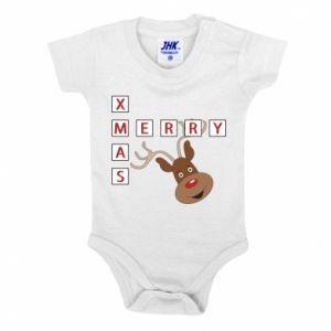 Body dla dzieci Merry Xmas Moose