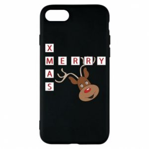 Phone case for iPhone 7 Merry Xmas Moose