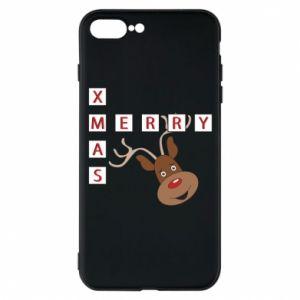 Phone case for iPhone 7 Plus Merry Xmas Moose