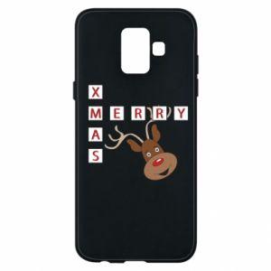 Phone case for Samsung A6 2018 Merry Xmas Moose
