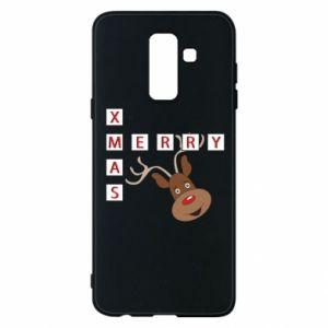Phone case for Samsung A6+ 2018 Merry Xmas Moose