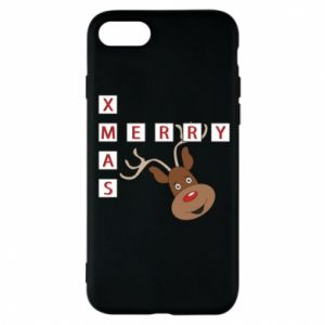 Phone case for iPhone 8 Merry Xmas Moose