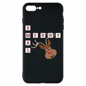 Phone case for iPhone 8 Plus Merry Xmas Moose