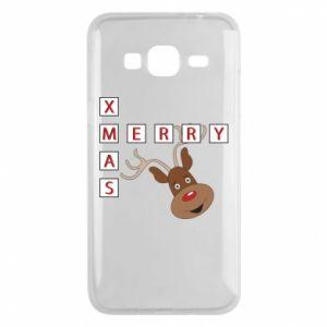 Phone case for Samsung J3 2016 Merry Xmas Moose