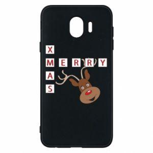 Phone case for Samsung J4 Merry Xmas Moose