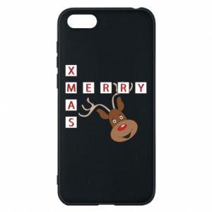 Phone case for Huawei Y5 2018 Merry Xmas Moose