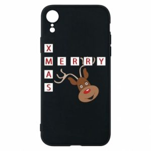iPhone XR Case Merry Xmas Moose