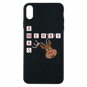 Phone case for iPhone Xs Max Merry Xmas Moose