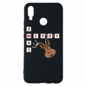 Phone case for Huawei P Smart Plus Merry Xmas Moose