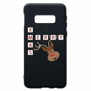 Phone case for Samsung S10e Merry Xmas Moose