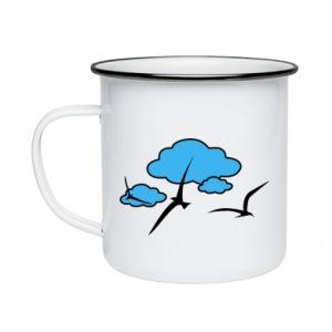 Enameled mug Seagulls
