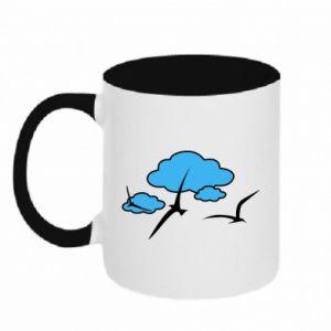 Two-toned mug Seagulls