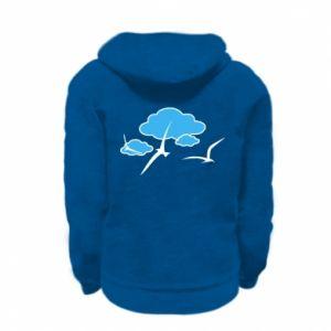 Kid's zipped hoodie % print% Seagulls