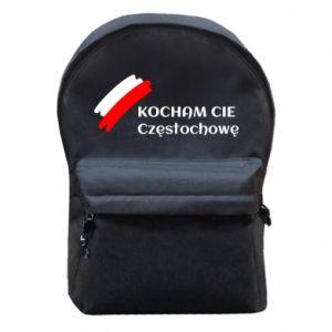 Backpack with front pocket city Czestochowa - PrintSalon
