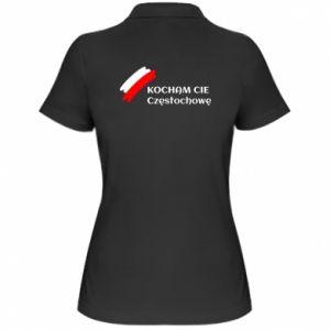 Women's Polo shirt city Czestochowa - PrintSalon