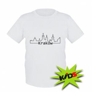 Dziecięcy T-shirt Kraków. Miasto