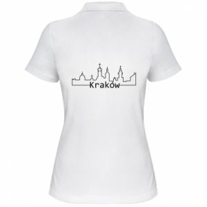 Koszulka polo damska Kraków. Miasto
