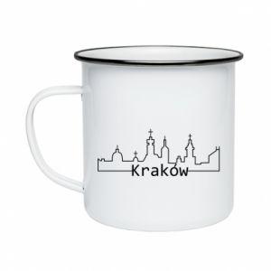Kubek emaliowany Kraków. Miasto