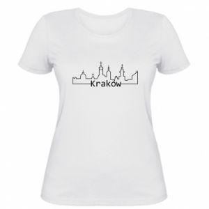 Damska koszulka Kraków. Miasto