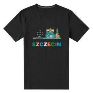 Męska premium koszulka Miasto Szczecin