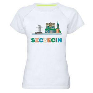 Damska koszulka sportowa Miasto Szczecin