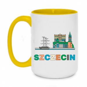 Kubek dwukolorowy 450ml Miasto Szczecin