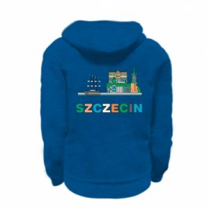 Kid's zipped hoodie % print% City Szczecin 2