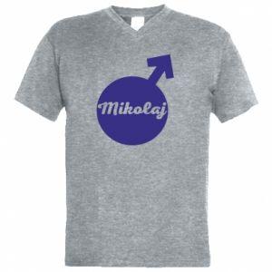 Męska koszulka V-neck Mikołaj
