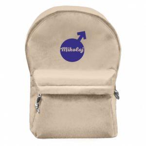 Plecak z przednią kieszenią Mikołaj