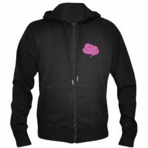Men's zip up hoodie Cute pink snake - PrintSalon