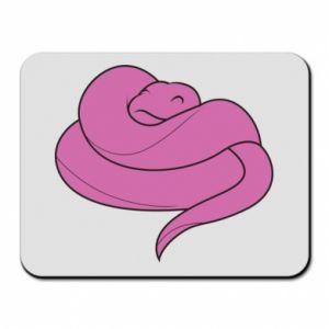 Mouse pad Cute pink snake - PrintSalon
