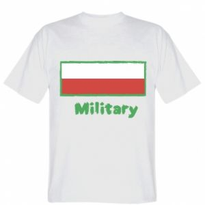 T-shirt Military and the flag of Poland
