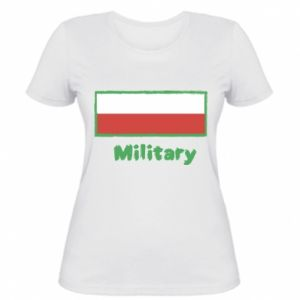 Women's t-shirt Military and the flag of Poland