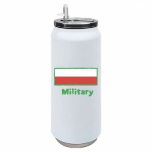 Thermal bank Military and the flag of Poland