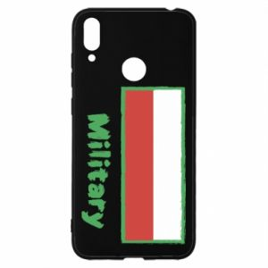 Huawei Y7 2019 Case Military and the flag of Poland