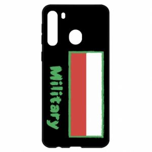Samsung A21 Case Military and the flag of Poland