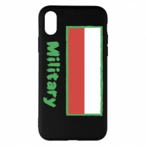 Etui na iPhone X/Xs Military i flaga Polski